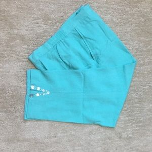 Ruby Rd. Crop pants size 8 turquoise capris